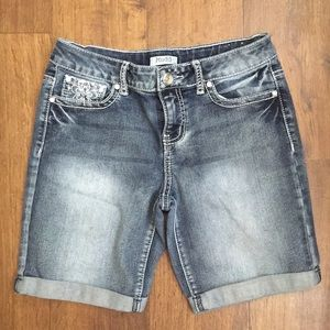 Mudd Jeans Girls Denim Shorts Sz 16